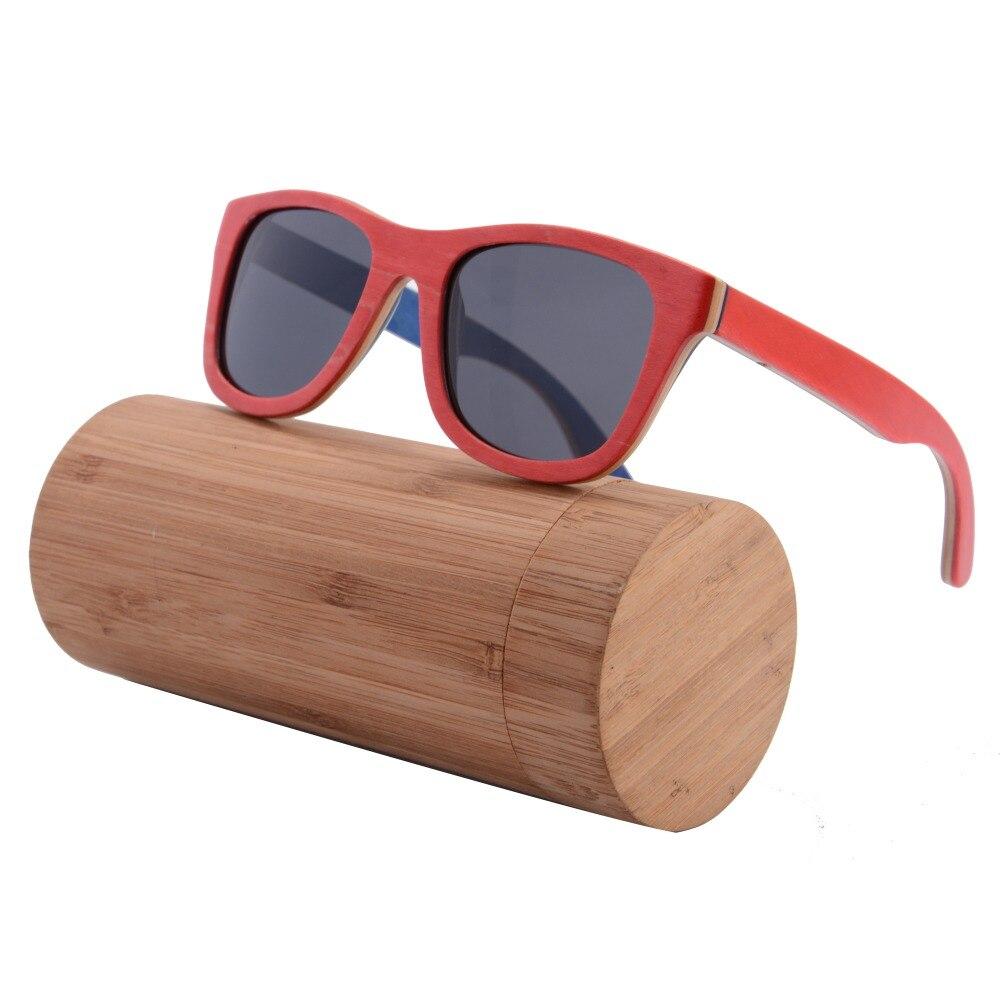 New Hot Sale Wood Sunglasses Skateboard Bamboo Sunglasses polarized Wooden Frame Handmade glasses box case z68004<br><br>Aliexpress