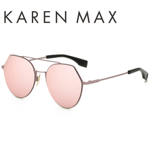 KAREN MAX Luxury Shades Hot Sale Fashion Retro sunglasses for unisex metal frame high definition FOR FISHING Polarized uv400