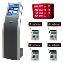 Intelligent Bank Wireless Queue Management System,Restaurant/Hotel Guest Calling kiosk with ticket dispenser and software