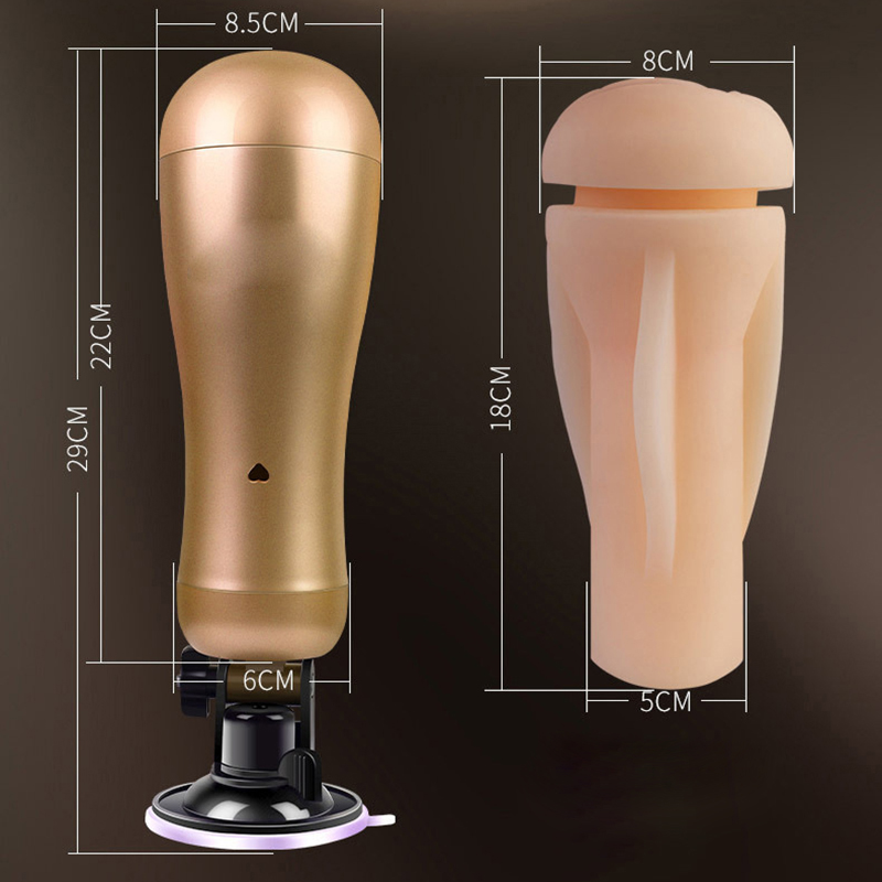 Handfree 36 Speeds Automatic Masturbator Cup Double Motors Vibration Artificial Vagina Pussy Adult Sex Toys For Man Sex Shop<br>