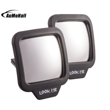 1Pair Black Car Styling Interior Mirrors Adjustable Blind Spot Mirror Stick Wide Angle Car Rv Truck Van Side View Convex Mirror(China)