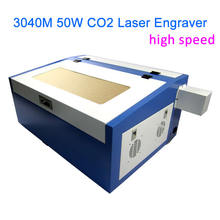 High speed version, 3040M CO2 Laser Cutter, 50W laser tube with all functions, Laser Engraving Machine