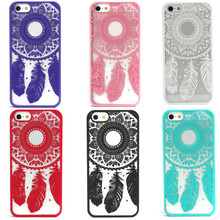 Best Deal Product  Carved Damask Vintage Dream Catcher Campanula Hard Case For iPhone 5 5s Plastics phone cover anti dirty
