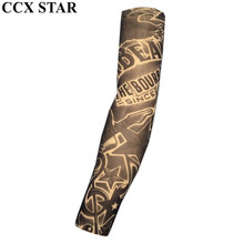 CCX STAR Star & Guitar Nylon Fake Tattoo Arm Warmers Oversleeve Temporary Tattoo Arm Sleeves BXT0139(China)