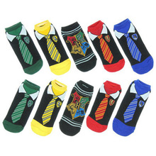 &  Fashion Art Women men and kdis Cotton Socks Harry Potter  Halloween Tie Pattern Hip Hop Harajuku Calcetines Cotton Socks