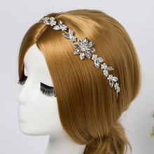 Bridal Rhinestone Crystal Hair Vine Tiara Crown Wedding Comb Hair Chain Headpiece Floral Headband Hair Ornaments for Women(China)