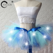 Buy ORDEESON 25CM Ball Gowns Women Skirt Dancing Light High Waist Skirt Adult Tutu Tulle Skirt Mini Skirts Sexy Hot Rave Clothes for $20.28 in AliExpress store