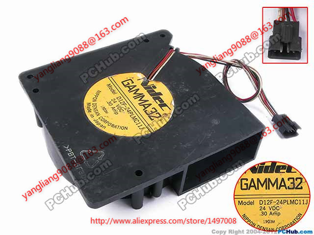Nidec D12F-24PLMC11J DC 24V 0.30A     120x120x32mm  Server Square  fan  <br>