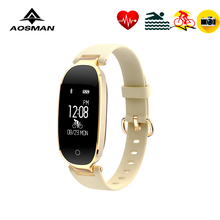 AOSMAN fashion camera video music Remote ladies watch Heart rate reloj mujer Independent record of riding time APP GPS tracking(China)