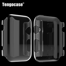Crystal hard plastic case for iPhone apple watch series 1 42mm 38mm protective transparent cover case for 42 mm 38 mm 10pcs
