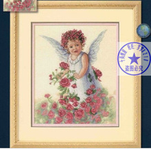 FREE delivery Top Quality lovely counted cross stitch kit rose flower angel fairy dimensions 13729