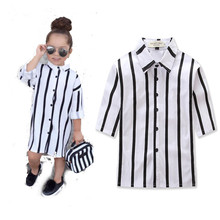 Summer fashion baby girls long sleeve striped polo shirts lovely kids casual clothes children's clothes princess wear 17A801(China)