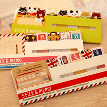 New Decoration Stationary Kawaii British Style & Animals Mini Memo Notepad,note Book&memo Pad,sticky Notes Book Mark