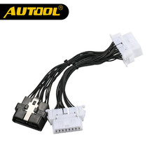 AUTOOL OBD2 Extension Cable One 16Pin Male Port to Dual 16 Pin Female Port OBDII ODB2 Car Diagnostic Connector(China)