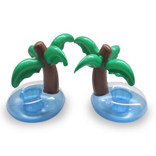 Summer Swimming Pool Floating Inflatable Coconut Trees Holder Water Drinks Cup Beach Mobile phone Cup Care Floating Row