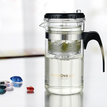 New Multi-purpose 200ml Glass Tea Pot with Stainless Infuser for Home Cafe Guest Personal Restaurant Use
