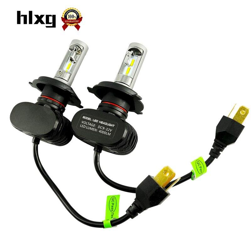 2PCS All In One Car H4 LED Headlight Bulb Kit Hb2 9003 High Low Beam 6000K White Head Light Fog Lamp H4 For VW Toyota Honda etc<br><br>Aliexpress