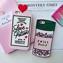 3D Love Potion Chill Pills Bottle Phone Case For iPhone 7 PLUS 5 5s se 6 6S Plus Silicone For NOTE 3 4 5 7 A7 A8 A9 S6 S7 EDGE