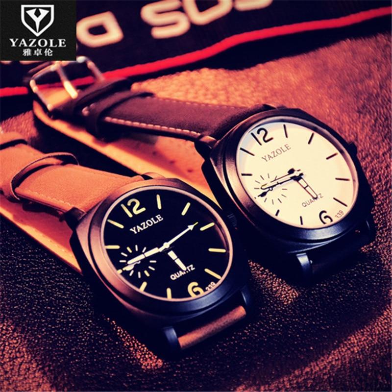 YAZOLE Relogio Masculino Leather Watches Men Waterproof Business Quartz Watch Casual Man Relogios Masculinos Kol Saati E77<br><br>Aliexpress