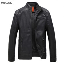 2017 hot fashion men's leather jacket motorcycle clothing leather jacket coat windproof Free Shipping