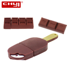 USB Flash Drive Cartoon Love Sweet Chocolate Flash Drive 4GB 8GB 32GB 64GB USB 2.0 Flash Memory Stick Flash Drive 16GB Pendrive