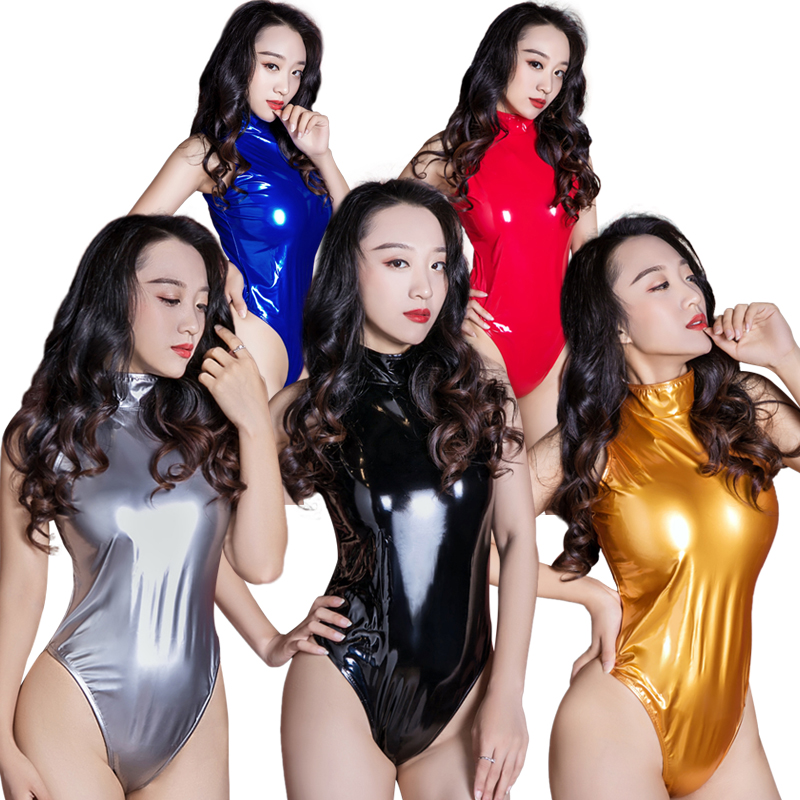 Nice New Sexy Women Pu Faux Leather High Cut Bodysuit Thong Swimsuit Erotic Leotard Costumes Latex Bodysuit Swimwear Club Wear Fx1022 Luggage & Bags