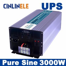 Universal inverter UPS+Charger 3000W Pure Sine Wave Inverter CLP3000A DC 12V 24V 48V to AC 110V 220V 3000w power inverter(China)