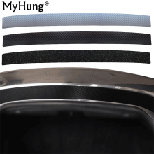 Car Rear Bumper Scuff Protective Sill Pedals Cover For VW Volkswagen Tiguan Touran Touareg Passat CC Beetle Carbon Fiber 1pc