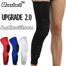 1Pcs Long Basketball Knee Pads Football Shin Guard Run Leg Sleeve Calf Knee Brace Support Protector Ski/Snowboard Sport Kneepad(China)