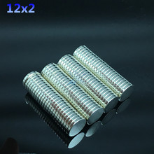 50pcs 12x2mm Super Strong magnet 12X2 mm Round Disc Rare Earth Neodymium magnets 12*2mm NEW Art Craft Connection fridge magnet(China)