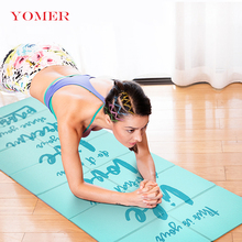 YOMER 5mm PVC Non-slip Foldable Yoga Mats For Fitness Slim Yoga Gym Exercise Mats Outdoor Pads Fitness Mat Easy Carry(China)