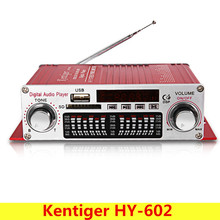 Buy Kentiger HY-602 Mini Portable HiFi Stereo Power Digital Amplifier FM IR Control FM MP3 USB Playback Four DSP for $13.49 in AliExpress store