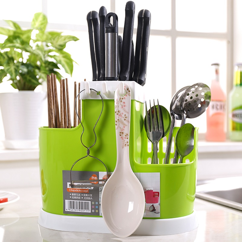 New Plastic Knife Block Knife Stand Kitchen Ceramic Knife Holder Multifunctional Eco-friendly Knife Rack Kitchen Accessories