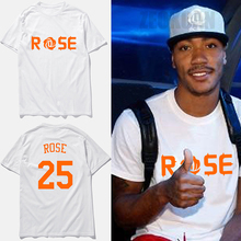 New Fashion mens basketbal t-shirts Derrick Rose jersey No.25 tee shirts short sleeves cotton round neck t shirt men,tx2344