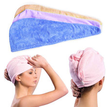 1pc Hair Towel Microfiber Towel Magic Drying Turban Wrap Towels Hat Cap Hair Dry Quick Dryer Bath Salon Towel E2shopping