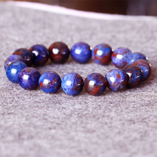 AAA South Africa High Quality Natural Genuine Purple Blue Sugilite Stretch Finish Bracelet Round Big beads 13mm 05020