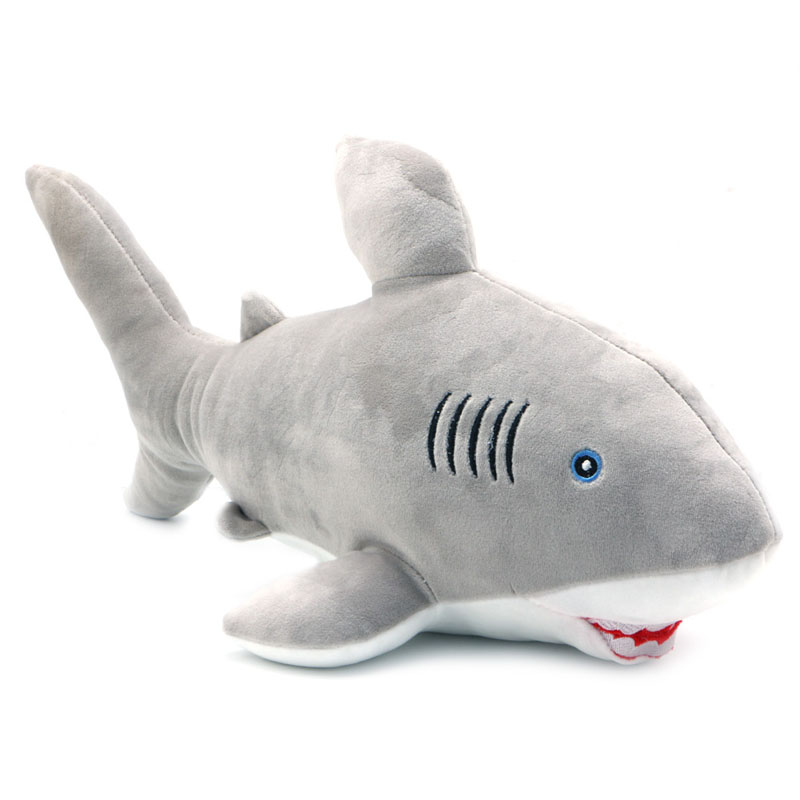 1Pc 51cm Great White Shark Plush Toy Jaws Stuffed Animal Toy Doll Kids Birthday Gift<br><br>Aliexpress