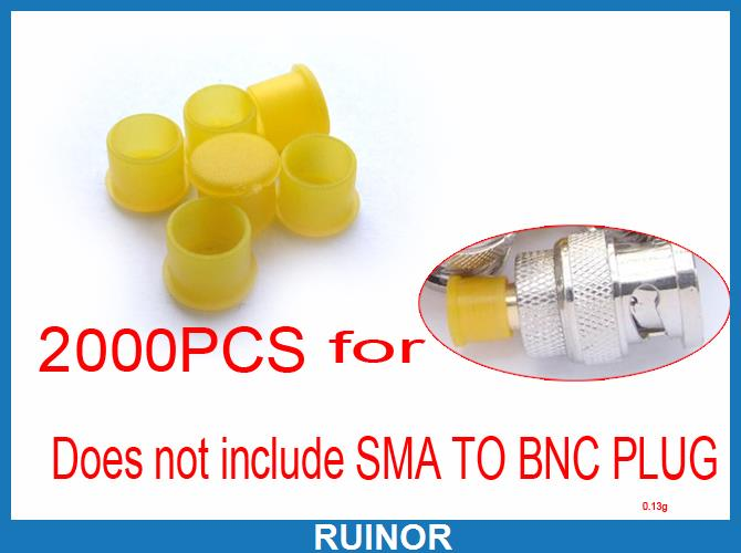 2000pcs Plastic Covers Dust Cap Yellow for RF SMA Female Connector<br>