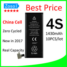 10pcs/lot Hot selling OEM 0 zero cycle Full Capacity Battery for iPhone 4S 1430mAh 3.7V Replacement Repair Parts(China)
