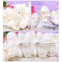 Bridal Wedding Bridesmaid Prom Hair Clip Fauxl Pearl Flower Hair Comb Tiara NEW