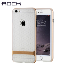 ROCK Royce Series Transparent cover for iPhone 6/6 plus case 4.7' 5.5 inch mobile phone case shell silicone protective sleeve(China)