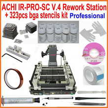 Original ACHI IR PRO V4 bga rework station +323pcs bga stencils solder flux reball station completely 20 in 1 bga reballing kit(China)