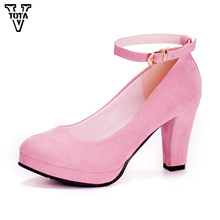 VTOTA 2017 Autumn Shoes Woman Women's High Heels Sexy Women Pumps Bride Party Thin Heel Pointed Toe Comfortable Zapatos Mujer(China)