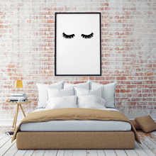 GY28 Lashes Wall Print Poster Modern Canvas Art Black and white Painting Wall Pictures for Bedroom  Decor, No Frame