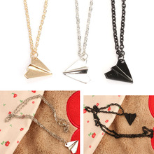 Fashion Alloy 1D Paper Plane Airplane Design Necklace Gift For Men Women 88 KQS(China)
