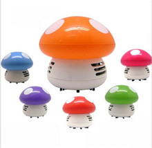 Cute Mini Mushroom Corner Desk Table Dust Vacuum Cleaner Sweeper Dirt Cleaner Brush Random Color(China)