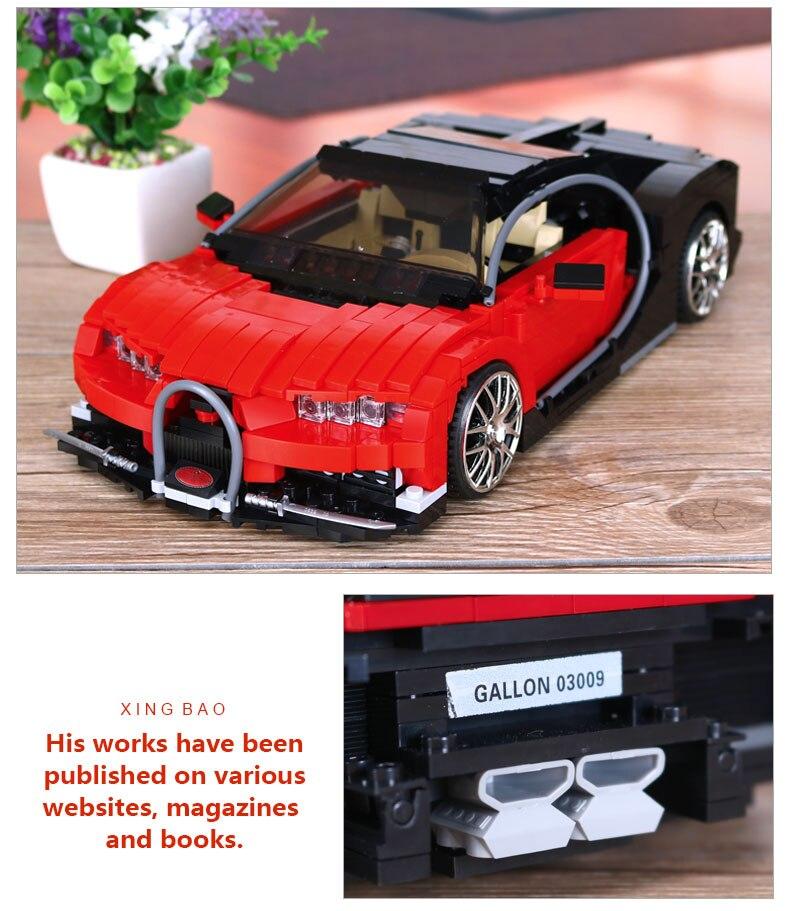 XingBao XB-03009 Bugatti Gallon Building Block 41