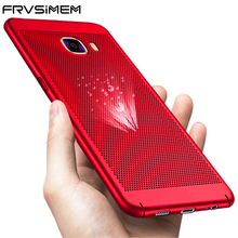 Frvsimem Case For Samsung Galaxy A3 A5 A7 2016 2017 J3 J5 J7 PRIME Cooling Cases S7 edge S8 Plus Thin 360 Case Back Cover Capa