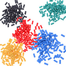 Wholesale 500 Pcs 5 Colors Heat Shrink Wire Wrap Sleeve Car Electrical Cable Tube Tubing
