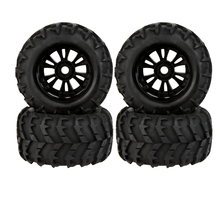 GoolRC 2 Pcs RC 1/8 Monster Car Wheel Rim and Tire 810006 for Traxxas HSP Tamiya HPI Kyosho Remote Control Car